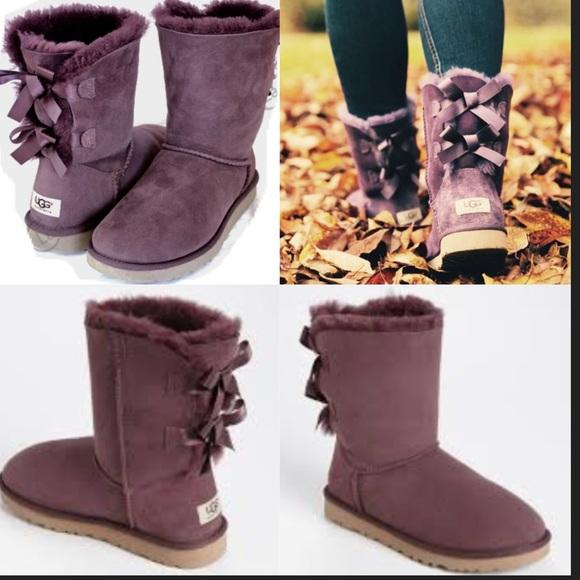 Bailey Poshmark Color Bordeaux Shoes Deep Burgundy Bow Boots Ugg T7OHR